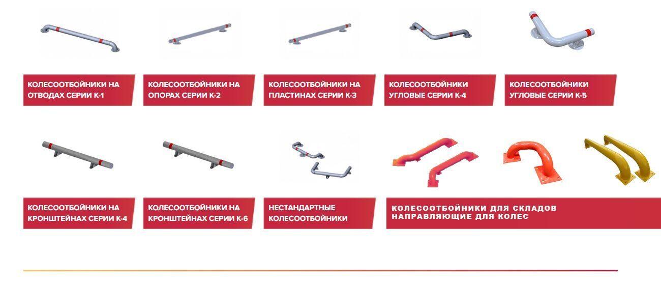 Изготовление колесоотбойников металлических под заказ
